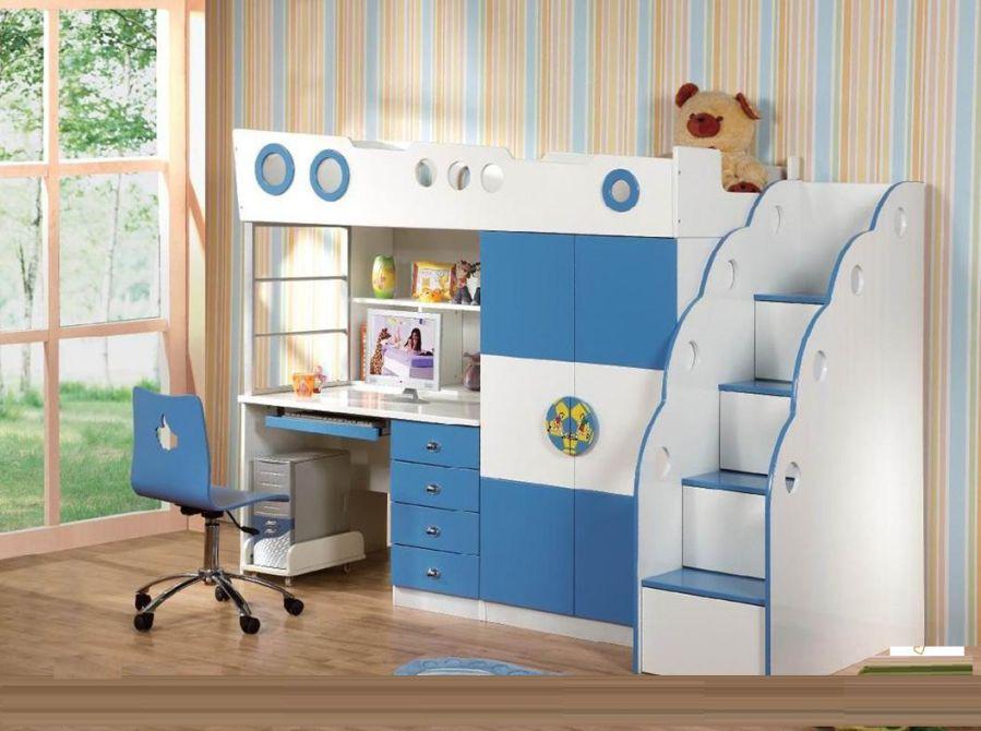 thiết kế phòng học đẹp dưới giường ngủ