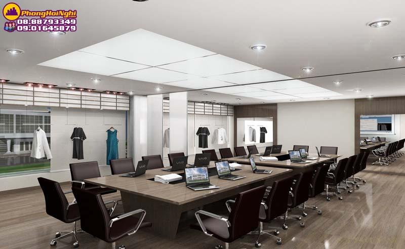phòng họp thiết kế bàn họp dài