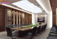 setuo phòng họp kiểu Conference