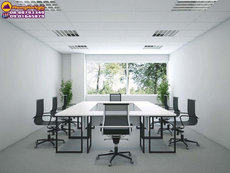 thiết kệ nội thất phòng họp đơn giản