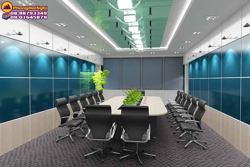 thiết kệ nội thất phòng họp không gian xanh