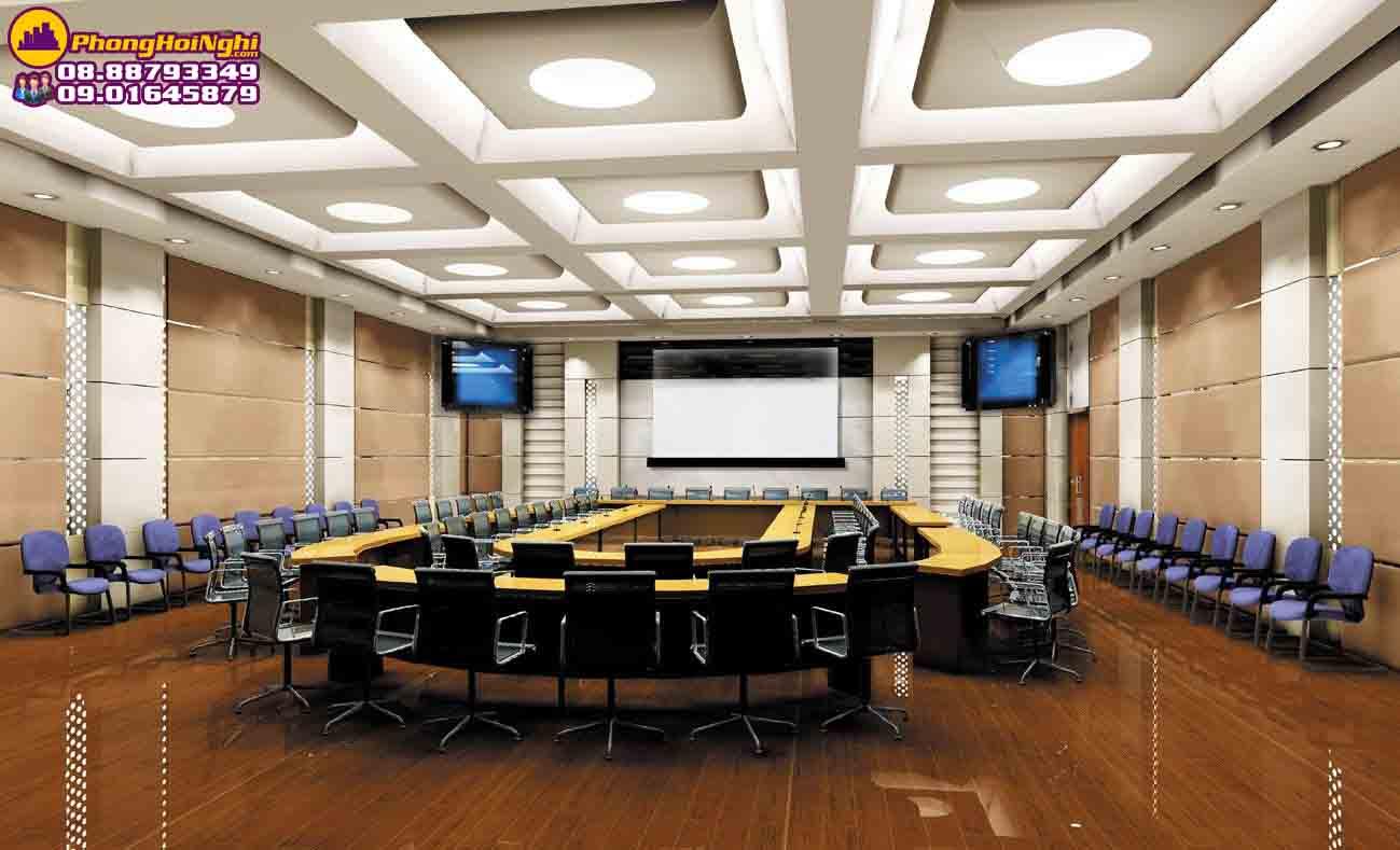 thiết kế nội thất phòng họp lớn