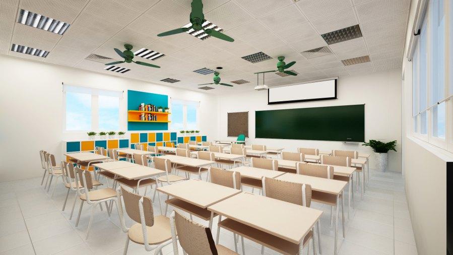 kích thước phòng học tiêu chuẩn