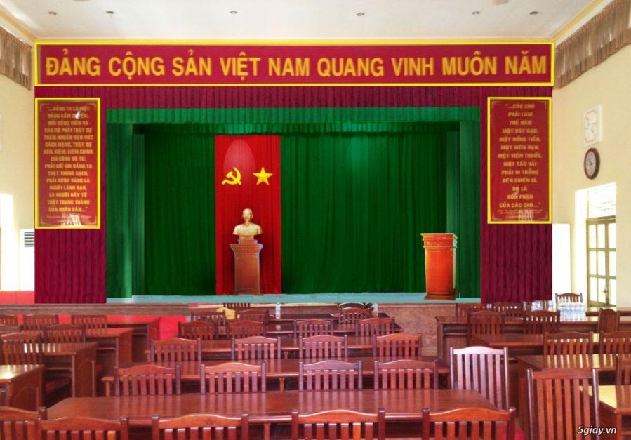 phông rèm hội trường họp đảng cộng sản