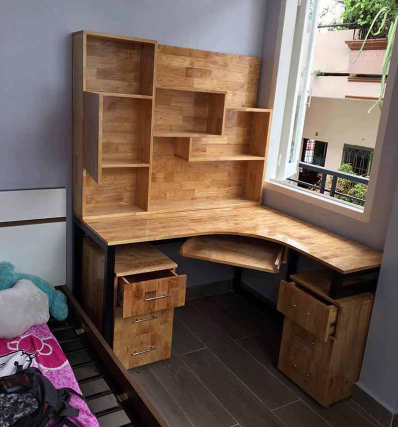 trang trí phòng học bằng bàn ghế