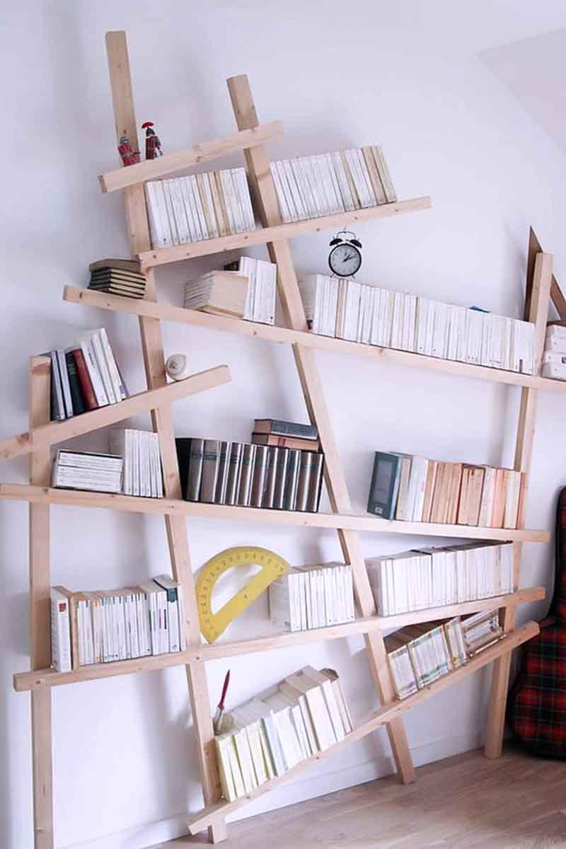 trang trí phòng học bằng kệ sách