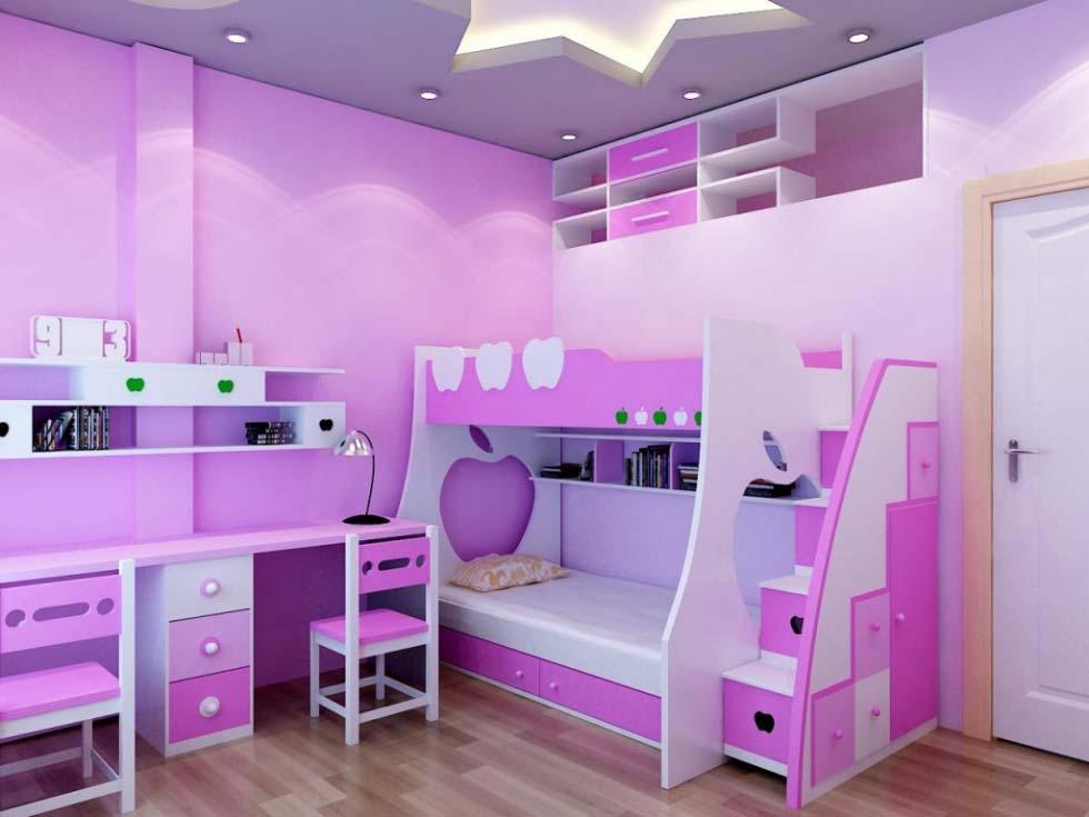 trang trí phòng học cho bé gái
