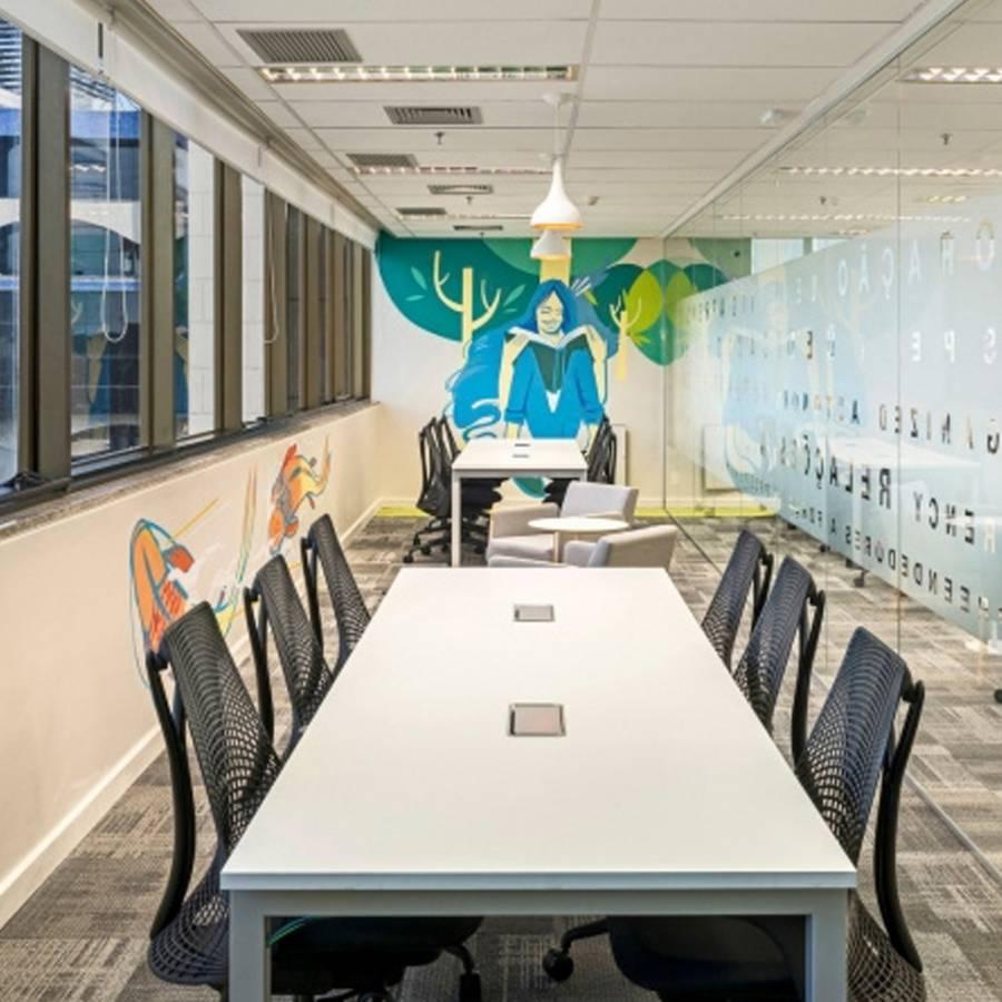 trang trí phòng họp bằng tranh vẽ 3d