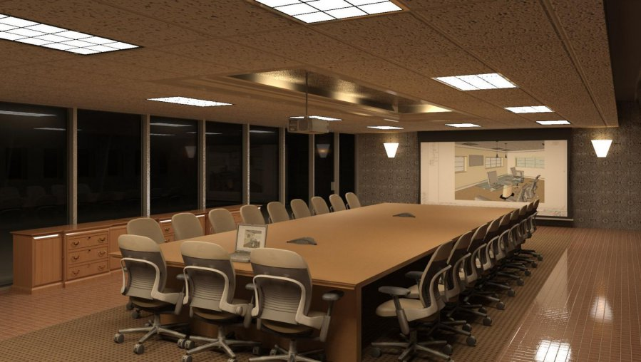 trang trí phòng họp đơn giản