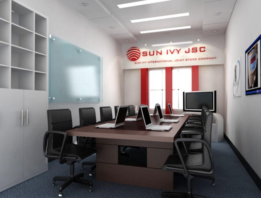 trang trí phòng họp không gian nhỏ hẹp