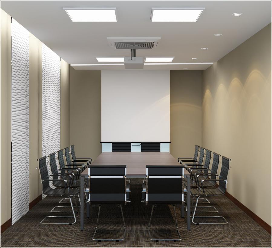 trang trí phòng họp phối hợp màu sắc