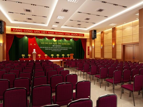thiết kế hội trường tập trung vào sân khấu hội trường