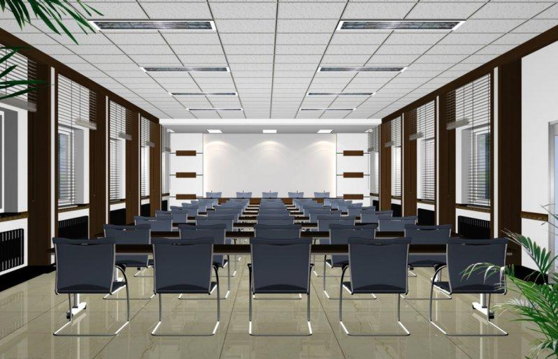 thiết kế nội thất hội trường 100 chỗ