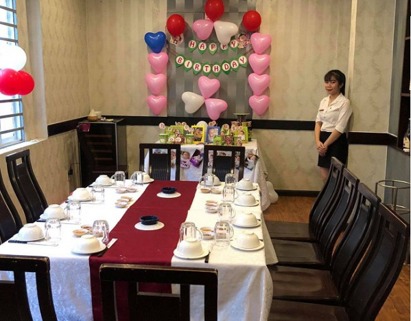 tổ chức sinh nhật cây dù quán