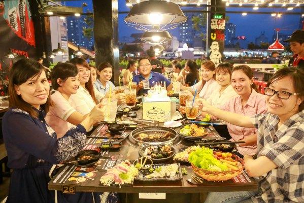 tổ chức sinh nhật nhà hàng  seoul garden