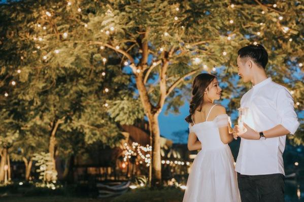 váy cưới a-line trễ vai